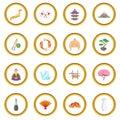 Japan icons circle