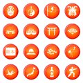Japan icons vector set