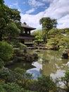 Japan japanese garden zen acer pond travel shrine temple tree rocks moss Royalty Free Stock Photo