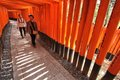 Japan kyoto april tourists visit fushimi inari shrine on april in kyoto old kyoto is a unesco world heritage site and was Stock Photos