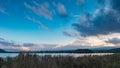 Japan landscape with mount fuji and lake kawaguchi kawaguchiko mountian is the famous volcano part of Stock Image