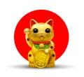 Japón feliz gato golgi