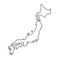 Japan map in line style.