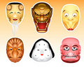 Japan masks 3 Royalty Free Stock Images