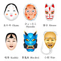 Japan masks I Royalty Free Stock Photos