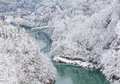 Japan mountain and snow Royalty Free Stock Photo