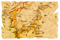 Japan old map Royalty Free Stock Photo