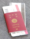 Japan passport and boarding pass Royalty Free Stock Image