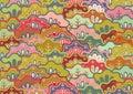 Japan pattern Royalty Free Stock Image