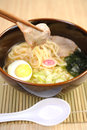Japan ramen noodle and pork Royalty Free Stock Photo