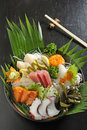 Japan sashimi set mix Royalty Free Stock Photography