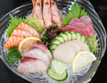 Japan sashimi set mix japanese cuisine Royalty Free Stock Photo