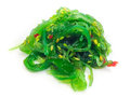 Japan seaweed salad on white background Stock Photo