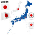 Japan set. Royalty Free Stock Photography