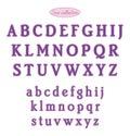 Japan stitch purple letters hand made sashiko Stock Photography