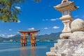 Japan - torii gate in Miyajima Royalty Free Stock Photo