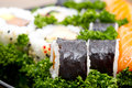 Japan Sushi closeup  background Stock Image
