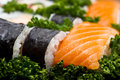 Japan Sushi closeup  background Royalty Free Stock Images