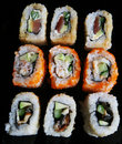 Japan traditional food - roll Royalty Free Stock Photography