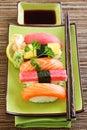 Japan traditional food sushi Royalty Free Stock Photo