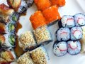 Japan Traditional Seafood Sushi Royalty Free Stock Photo