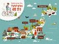 Japan travel map Royalty Free Stock Photo