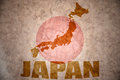 Japan vintage map Royalty Free Stock Photo