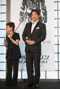 Japanese actor hiroyuki sanada august tokyo japan – appears at the japan premiere for the wolverine by james mangold in the Stock Photos