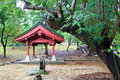Japanese architecture and garden ancient with pavilion stone lantern in courtyard Stock Images