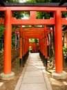 Japanese Archways Royalty Free Stock Photos