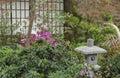 Japanese backyard garden Royalty Free Stock Photo