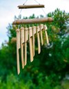 Japanese Bamboo Garden Wind Chimes Royalty Free Stock Photo