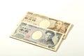 Japanese bank note 10000 yen and 1000 yen Royalty Free Stock Photo