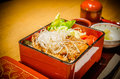Japanese bento set contain varieties of vegetables the Royalty Free Stock Photo