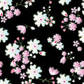 Japanese blossoms pattern Stock Photo