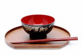 Japanese bowl and chopsticks Royalty Free Stock Photo