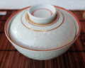 Japanese bowl with lid a white made of ceramic Royalty Free Stock Photography