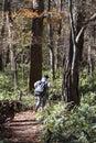 Japanese boy on a hike Royalty Free Stock Photo