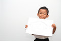 Japanese boy and his father s portrait years old Royalty Free Stock Photos