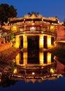 Japanese Bridge in Hoi An at night, Vietnam Royalty Free Stock Photo