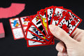 Japanese card game hanafuda Royalty Free Stock Photo