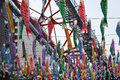 Japanese carp kites or shaped streamers decoration on the childrens day photo taken on april in tokyo tower Stock Image