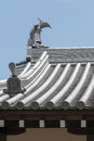 Japanese castle roof tiles detail of ajjapanese Stock Photography