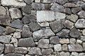 Japanese castle stone rampart pattern a close up background of Royalty Free Stock Image
