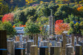 Japanese cemetery at arashiyama area in kyoto Royalty Free Stock Images