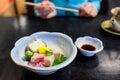 Japanese chilled tofu appetizer Royalty Free Stock Photo