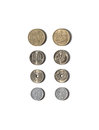 Japanese coins Royalty Free Stock Photo