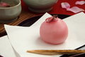 Japanese confectionery and tea Royalty Free Stock Photo