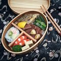 Japanese convenient bento Royalty Free Stock Photo
