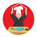 Japanese cook Royalty Free Stock Photo